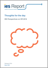 Thoughts for the day: IES Perspectives on HR 2016