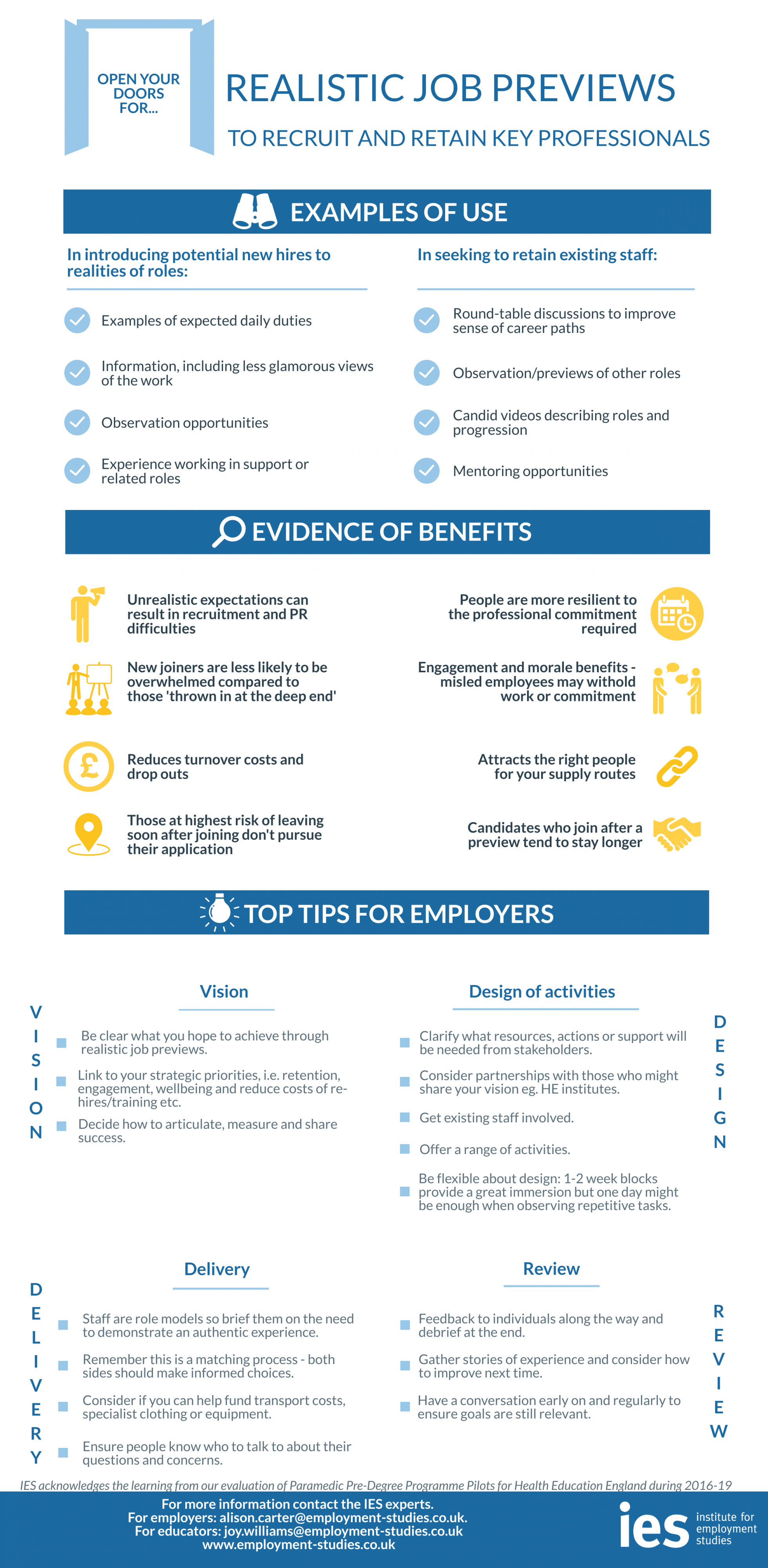 Realistic Job Preview Infographic