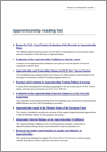 Apprenticeships further reading