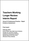 Teachers working longer review: annex B - employment practice