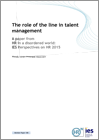 The role of the line in talent management