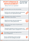 Infographic: Performance management - 10 practical tips for HR