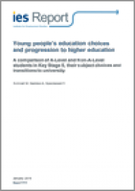 Young people's education choices and progression to higher education