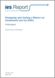 Designing and testing a return on investment tool for EAPs