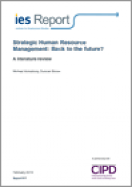 Strategic Human Resource Management: Back to the future?