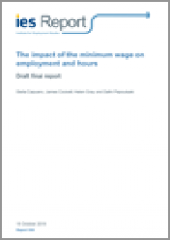 The impact of the minimum wage on employment and hours