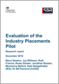 Evaluation of the Industry Placements Pilot
