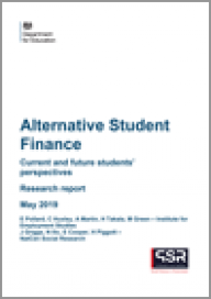 Alternative Student Finance: current and future students' perspectives