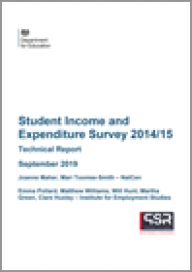 Student Income and Expenditure Survey 2014/15