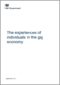Broughton A, Gloster R, Marvell R, Green M, Langley J, Martin A (2018), The experiences of individuals in the gig economy. Department for Business, Energy & Industrial Strategy (BEIS)
