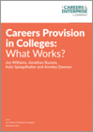 Careers provision in colleges: What works?