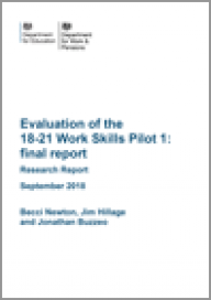 Evaluation of the 18-21 Work Skills Pilot 1