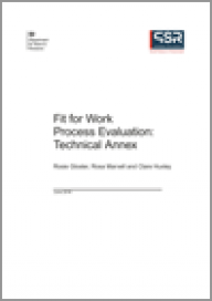 Fit for Work process evaluation: Technical Annex