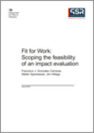 Fit for Work: Scoping the feasibility of an impact evaluation