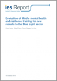 Evaluation of Mind's mental health and resilience training for new recruits to the Blue Light sector