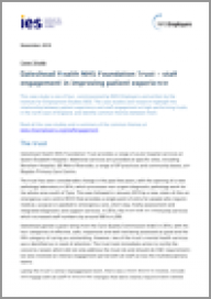 Gateshead Health NHS Foundation Trust - staff engagement in improving patient experience