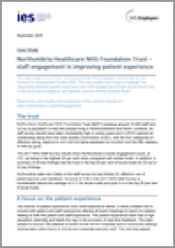 Northumbria Healthcare NHS Foundation Trust - staff engagement in improving patient experience