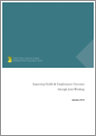 Improving health and employment outcomes through joint working