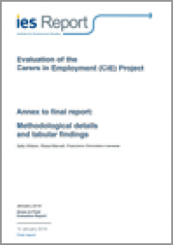 Evaluation of the Carers in Employment (CiE) Project: Methodological details and tabular findings