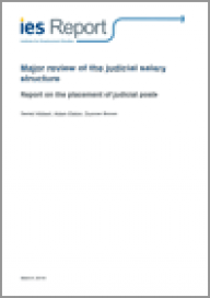Major review of the judicial salary structure: Report on the placement of judicial posts