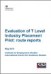 Evaluation of T Level Industry Placement Pilot: route reports