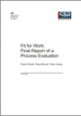 Fit for Work: Final report of a process evaluation