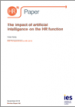 The impact of artificial intelligence on the HR function: IES Perspectives on HR 2018