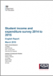 Student income and expenditure survey 2014 to 2015