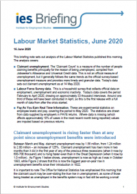 Labour Market Statistics, June 2020: IES analysis | Institute for  Employment Studies (IES)
